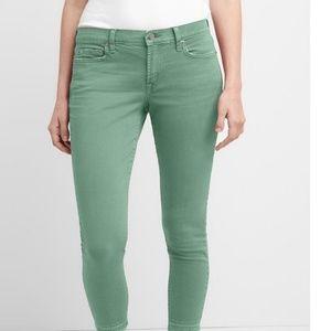 NWT Gap MR True Skinny Ankle Jeans 27 Green c760